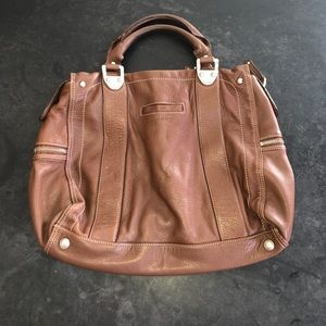 B. Makowsky Brown Leather Bag